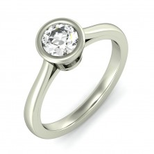 0.75 Ct. Solitaire Diamond Ring in Bezel Setting