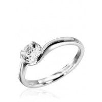 0.50 Ct. Solitaire Diamond Ring in Half Bezel and 1 Prong Setting