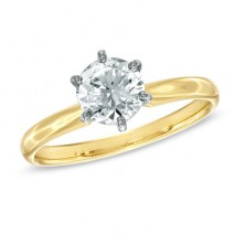 0.50 Ct. Solitaire Diamond Ring in 6 Prong Setting