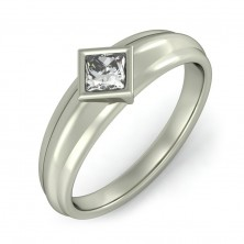 0.70 Ct. Solitaire Diamond Ring in Bezel Setting