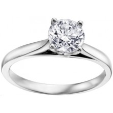 1.26 Ct. Solitaire Diamond Ring in 4 Prong Setting