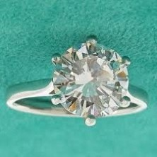 1.40 Ct. Solitaire Diamond Ring in 6 Prong Setting