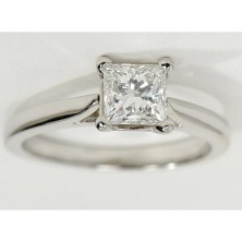 1.50 Ct. Princess Cut Solitaire Diamond Ring in 4 Prong Setting