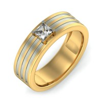 0.75 Ct. Solitaire Diamond Band Ring in 4 Prong Setting