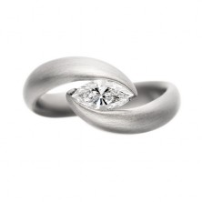 "0.70 Ct. Marquise Shape Solitaire Diamond Ring in 2 "" V ""  Prong Setting"