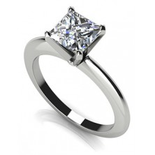 0.80 Ct. Princess Cut Solitaire Diamond Ring in 4 Prong Setting