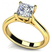 0.60 Ct. Princess Cut Solitaire Diamond Ring in 4 Prong Setting