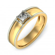 0.94 Ct. Solitaire Diamond Band Ring in 4 Prong Setting