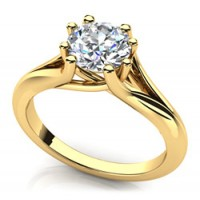 0.80 Ct. Solitaire Diamond Ring in 8 Prong Setting