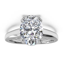 2.00 Ct. Oval Shape Solitaire Diamond Ring in 8 Prong Setting