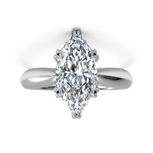 2.00 Ct. Marquise Shape Solitaire Diamond Ring in 8 Prong Setting