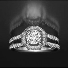 1.83 Ct. Solitaire Diamond Ring With Side Diamonds