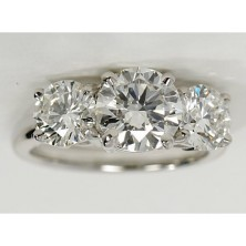4.00 Ct. Round Brilliant Solitaire Diamond Ring With Round Brilliant Side Diamonds