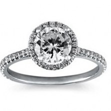 2.02 Ct. Round Brilliant Solitaire Diamond Ring With Round Brilliant Side Diamonds