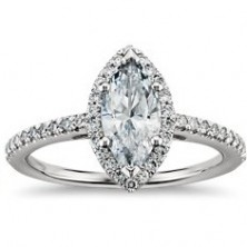 1.84 Ct. Marquise Shape Solitaire Diamond Ring With Round Brilliant Side Diamonds