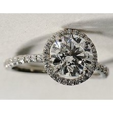 2.06 Ct. Round Brilliant Solitaire Diamond Ring With Round Brilliant Side Diamonds