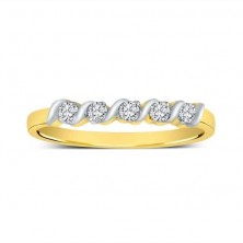 "5 Diamond "" S "" Style Band Ring"
