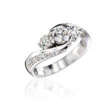 Solitaire  Diamond Ring with Accent Diamonds