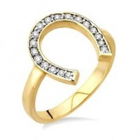 """ U "" Shape Diamond Ring"