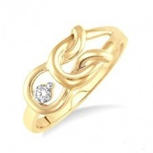 Kissing Knot Promise Diamond Ring
