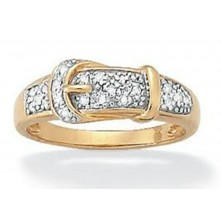 Belt Buckle Shape Diamond Ring
