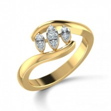 Marquise Shape Set Cris Cross Diamond Ring