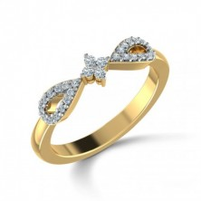 Bow Shape Set Cris Cross Diamond Ring