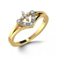 """ V "" Shape Diamond Ring"