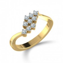 9 Diamond Cris Cross Ring