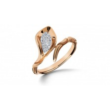 Snake Shape Diamond Ring